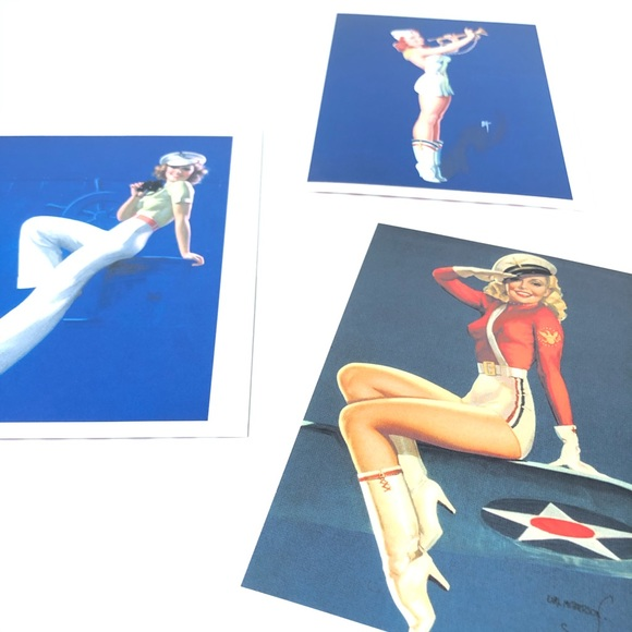 Pin Up Girl Postcards Set of 3 WWII